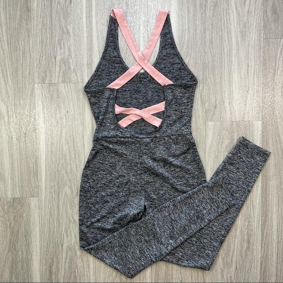 SHEIN Bodysuit w/ Crisscross Back